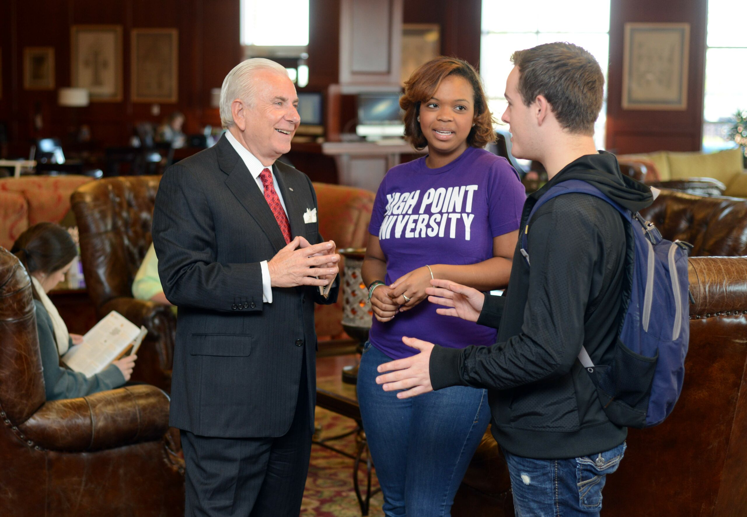 President Qubein with Students