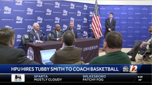 TUBBY SMITH TO COACH BASKETBALL AND NEW HPU BASKETBALL ARENA TIMELINE