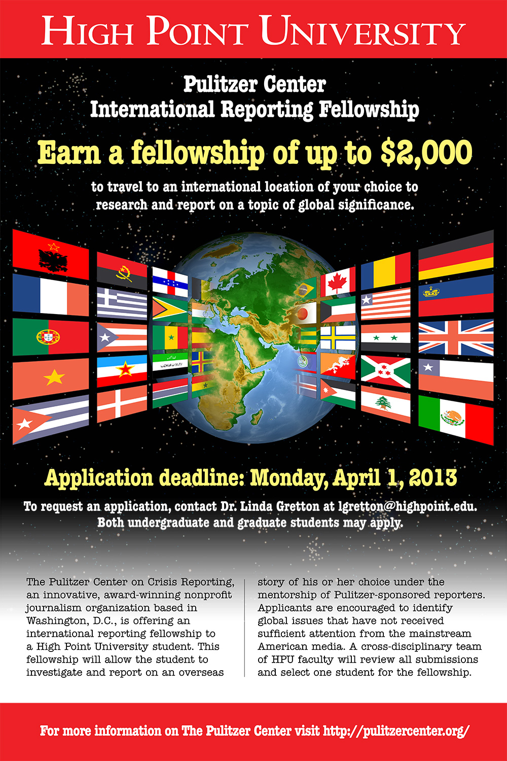 Pulitzer Center Fellowship poster