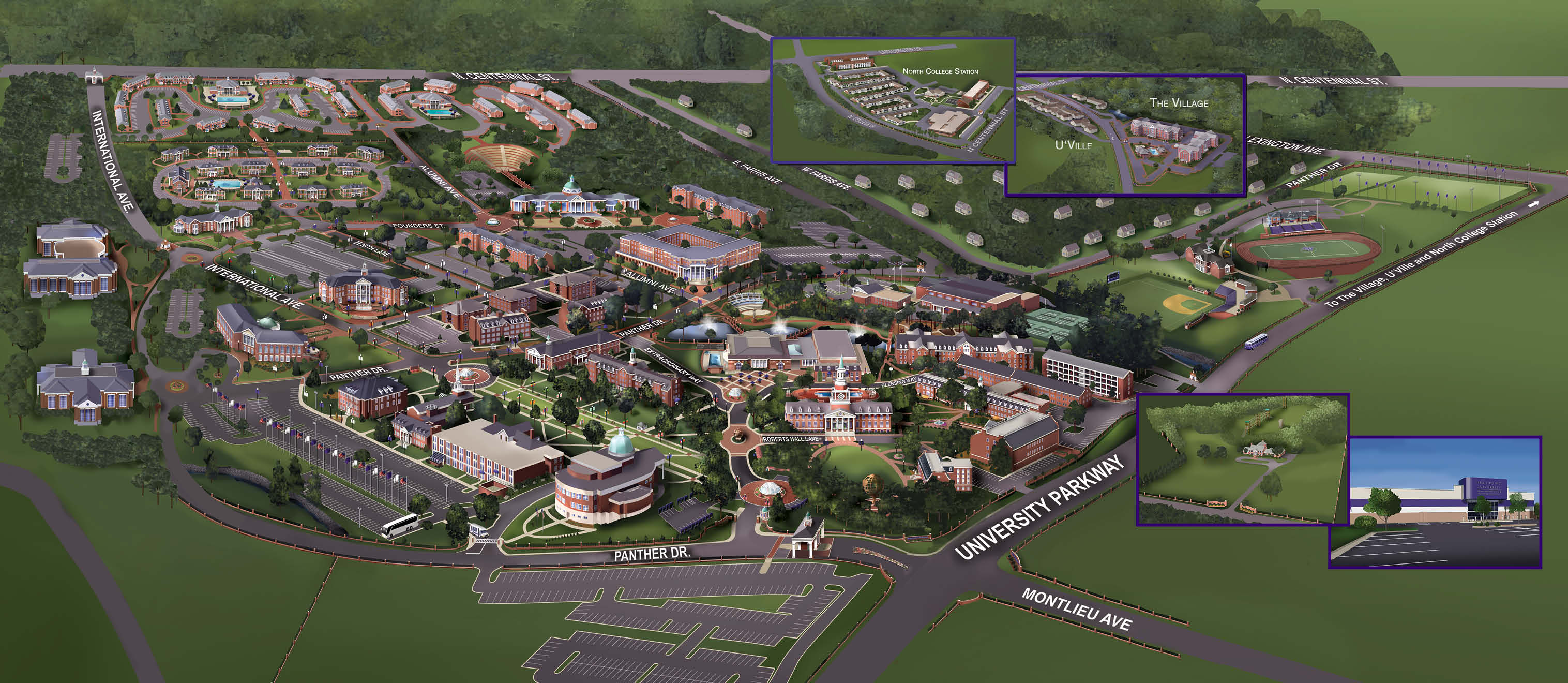 Salem College Campus Map.Campus Map High Point University High Point Nc