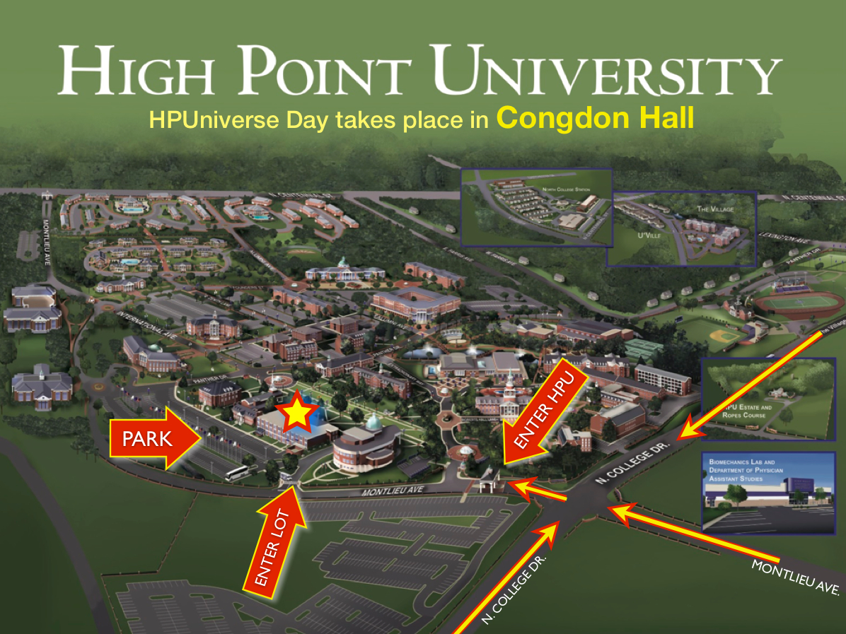 HPUniverse Directions and Parking | High Point University | High