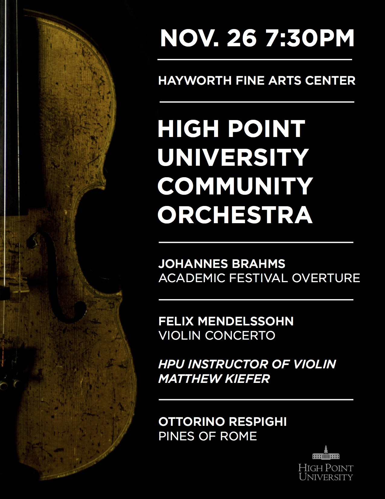 HPU Community Orchestra Concert | High Point University