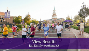 Family Weekend 5k Results button
