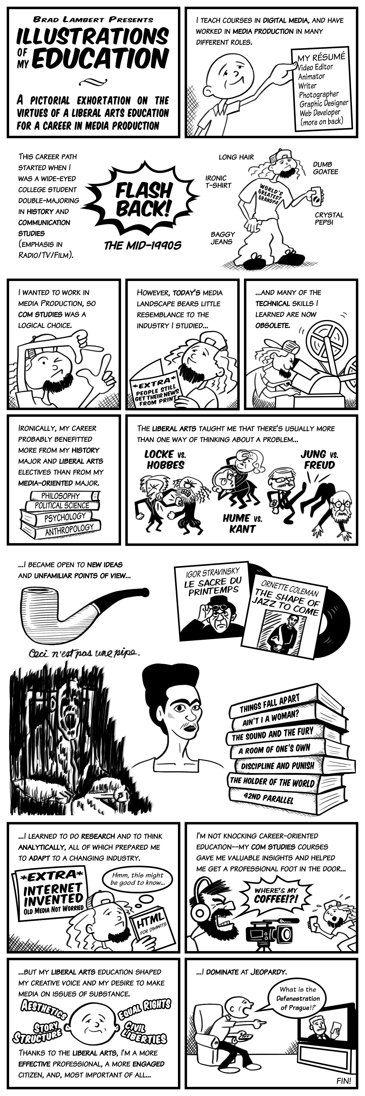illustrations of my education a pictorial exhortation on the graphic essay on the liberal arts