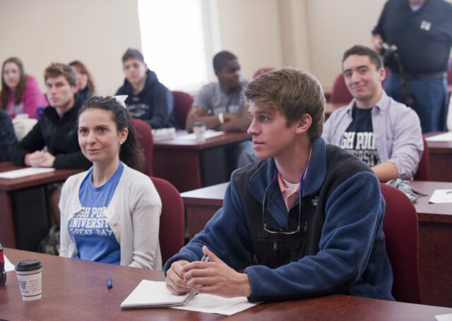 students in human relations classroom