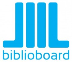 Biblioboard blue and white logo