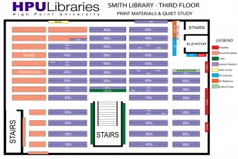 New Map of Smith Library's Third Floor
