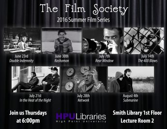Film Society: 2016 Summer Films