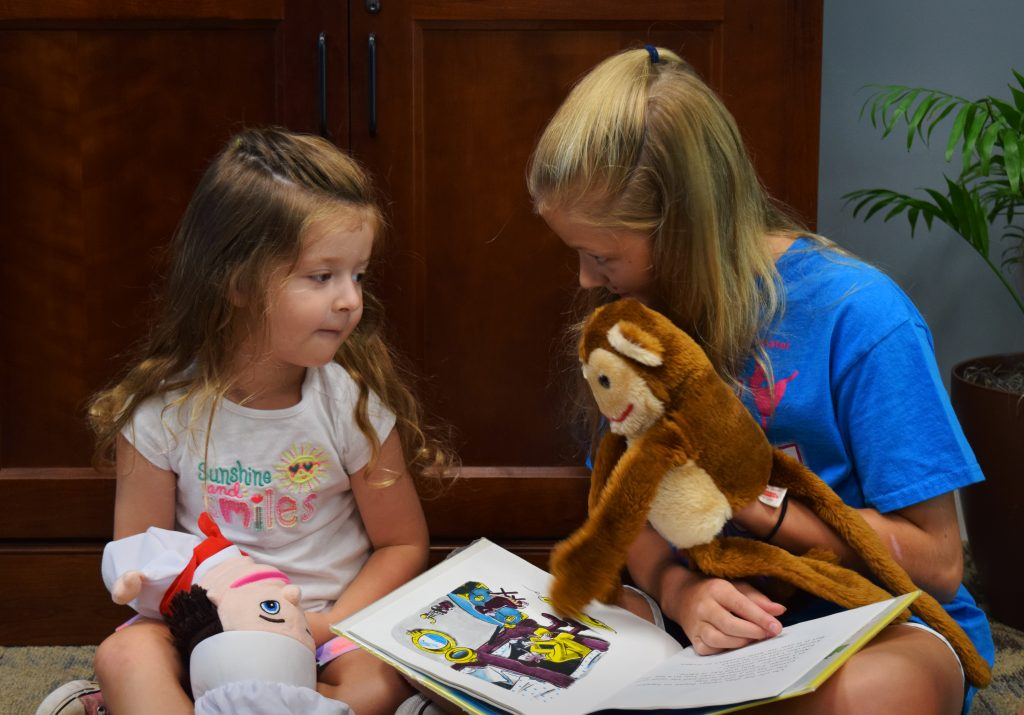 Curious George at the SOE Resource Center by Angela Tedrick