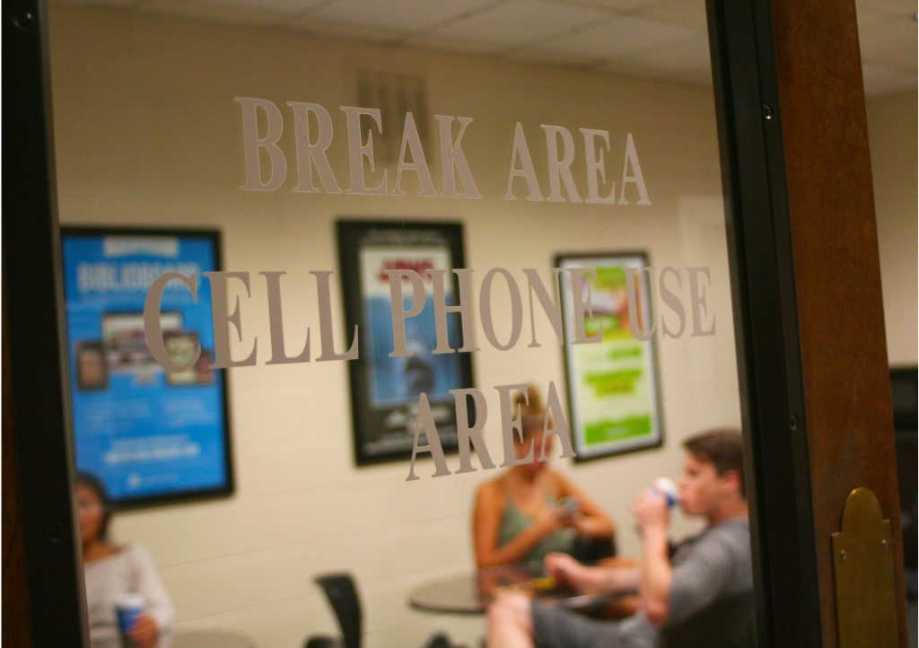 Break area at Smith Library; captured by