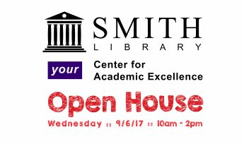 Smith Library Open House: Wednesday, September 6th from 10am to 2pm