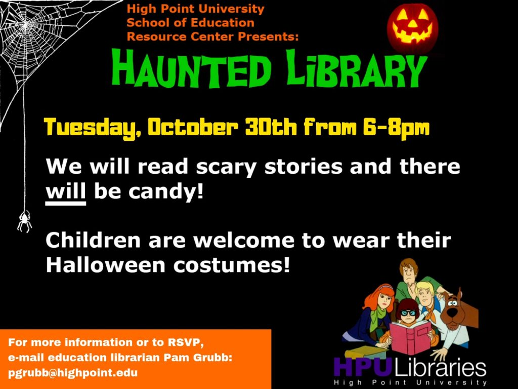 Upcoming Events: Smith Library's Halloween Spooktacular and