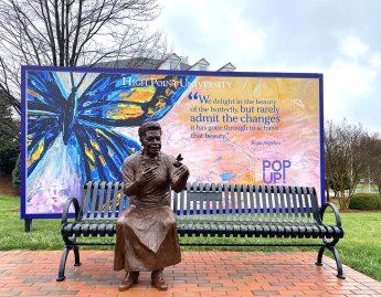 HPU Installs New Maya Angelou Sculpture