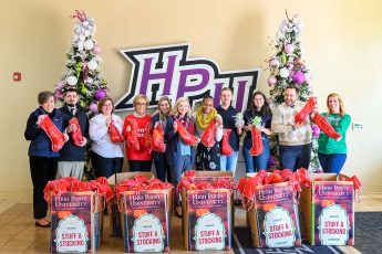 HPU Students Donate 750 Stockings to the Salvation Army