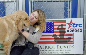 Honoring Veterans: HPU Students Document Service Dog Training