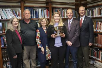 Kendra Perley Presented with HPU's 2019 Haverty Cup