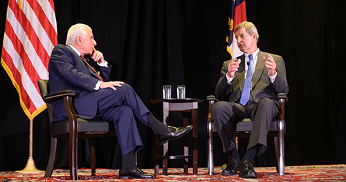 Wyndham Champions Breakfast with Dr. Nido Qubein and Kelly King, sponsored by Piedmont Triad Partnership.