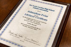 2 HPU Life Saver Award