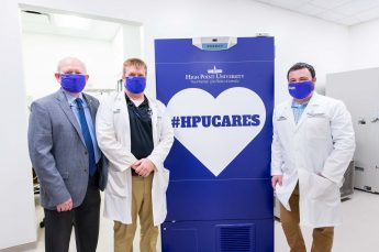 HPU Provides Cone Health with Freezer to Store COVID-19 Vaccine
