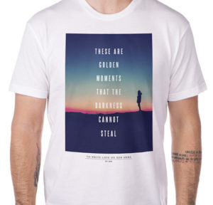 Dearie designed the 2014 TWLOHA UChapters T-shirt.