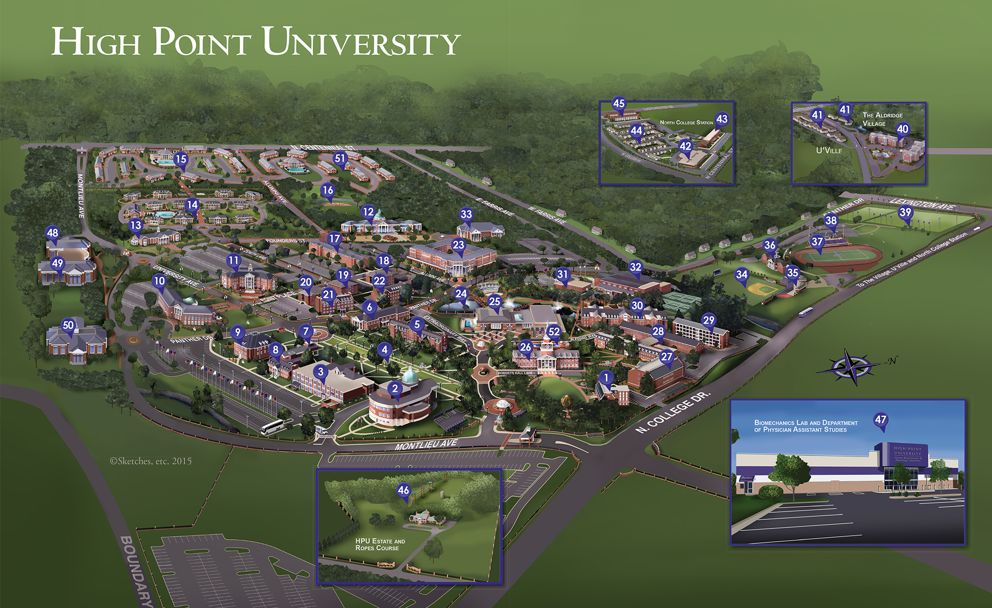 2015 map of campus