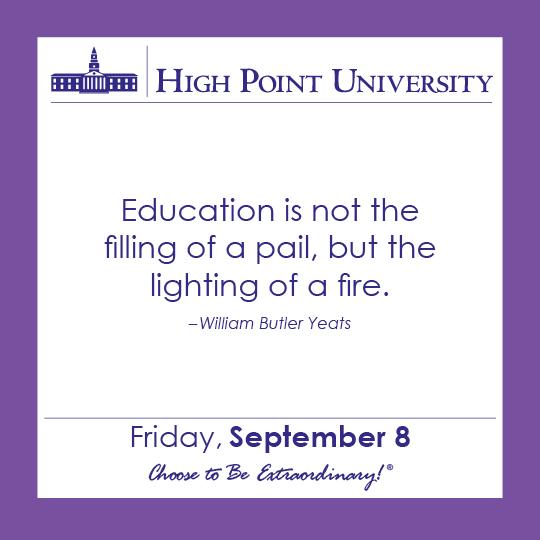 Calendar September 8 2017 High Point University