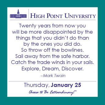 [CALENDAR] January 25, 2018