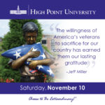 The willingness of America's veterans to sacrifice for our country has earned them our lasting gratitude. - Jeff Miller