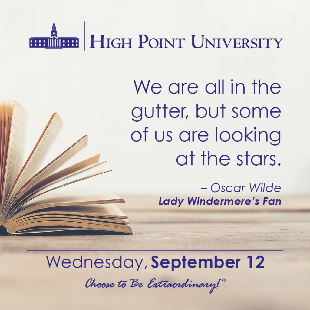 Calendar September 12 2018 High Point University High Point Nc
