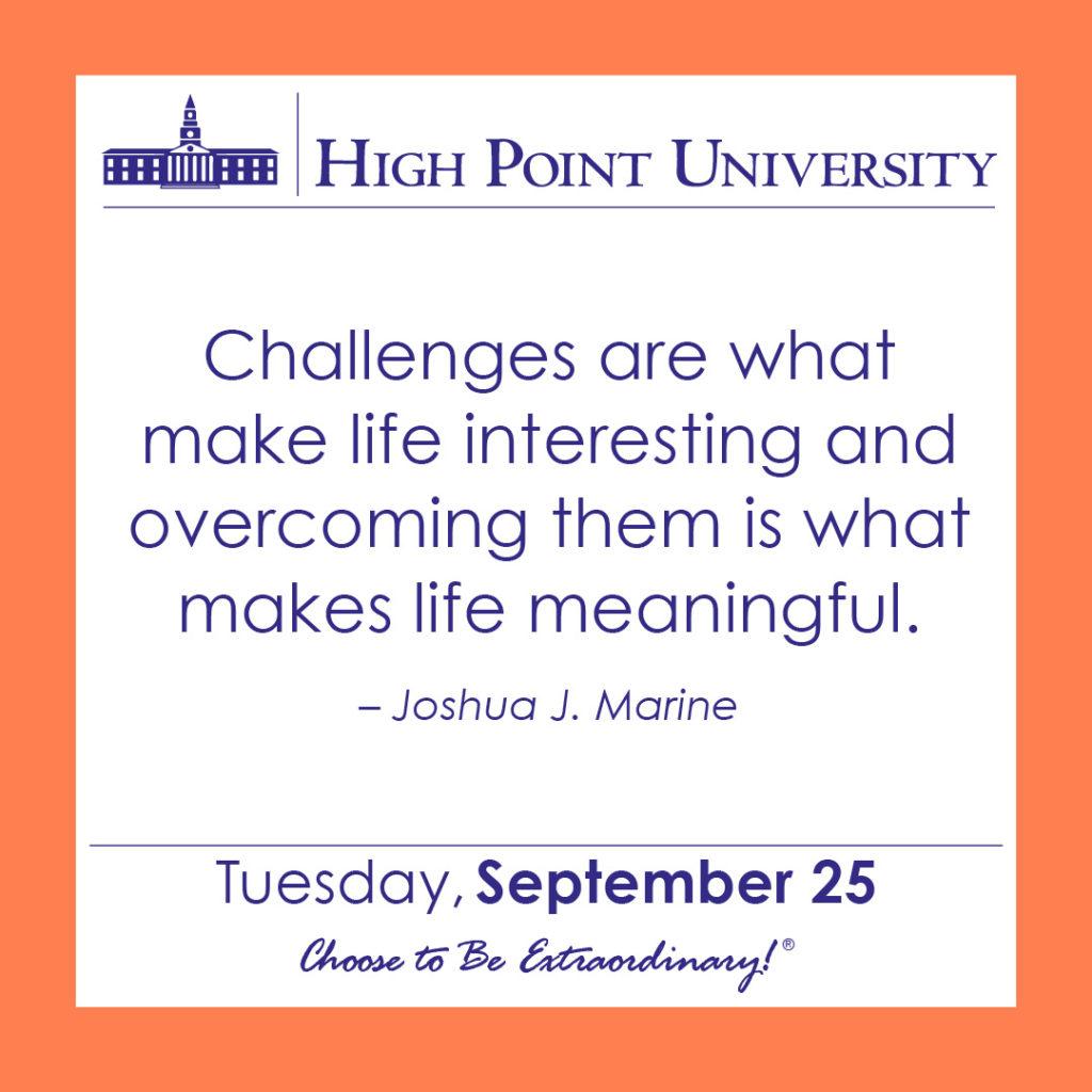 calendar september 25 2018 high point university high point nc