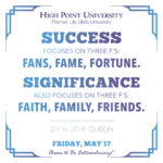 Success focuses on three f's: fans, fame, fortune. Significance also focuses on three f's: faith, family, friends. - Dr. Nido R. Qubein
