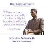 Peace is not absence of conflict, it is the ability to handle conflict by peaceful mean. - Ronald Reagan