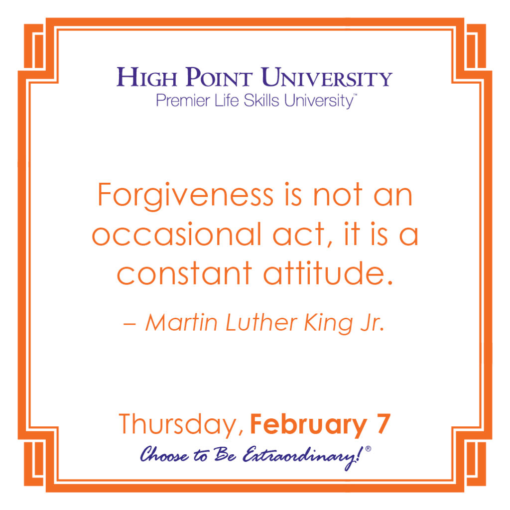 Forgiveness is not an occasional act, it is a constant attitude. - Martin Luther King Jr.