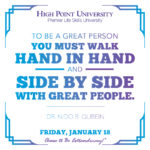 To be a great person you must walk hand in hand and side by side with great people. - Dr. Nido R. Qubein