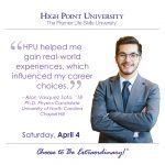 HPU helped me gain real-world experiences, which influenced my career choices. -Alan Vasquez Soto, HPU 2018