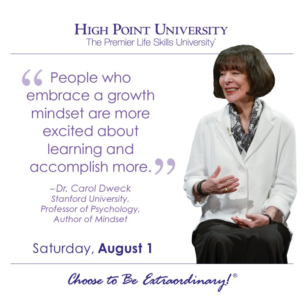 People who embrace a growth mindset are more excited about learning and accomplish more. -Dr. Carol Dweck