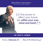 The power to affect your future lies within your own mind and heart- Dr. Nido R. Qubein