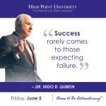 Success rarely comes to those expecting failure. - Dr. Nido R. Qubein