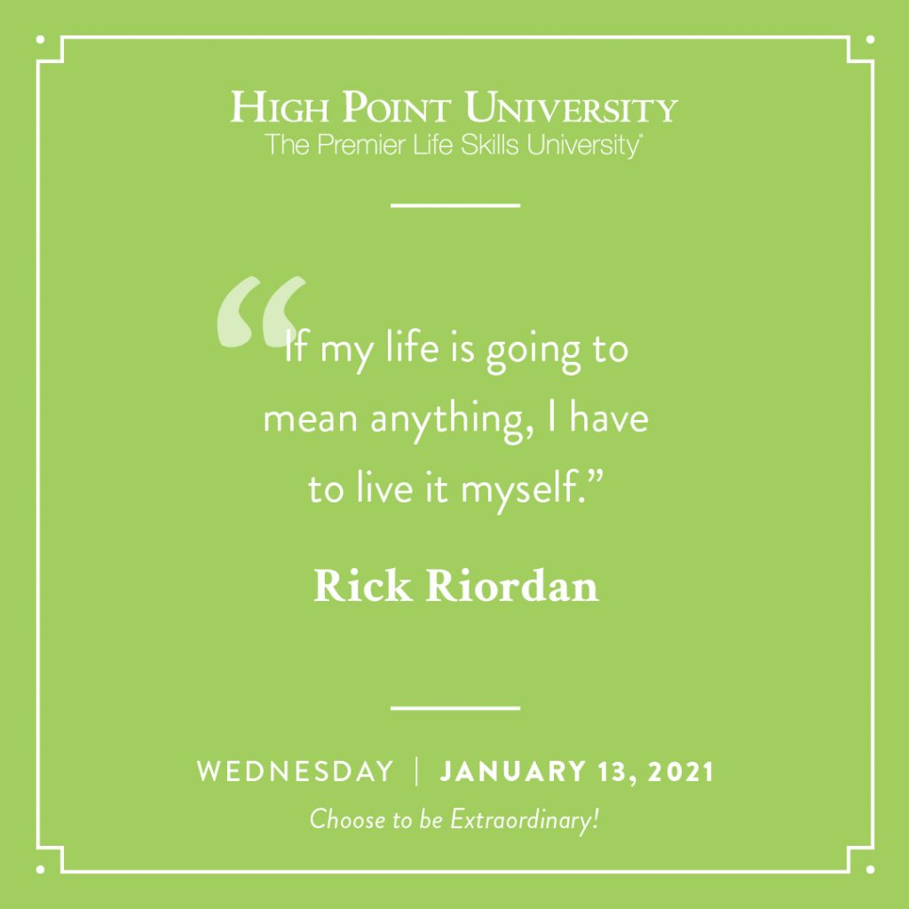 January 13 2021 daily motivation Rick Riordan quote