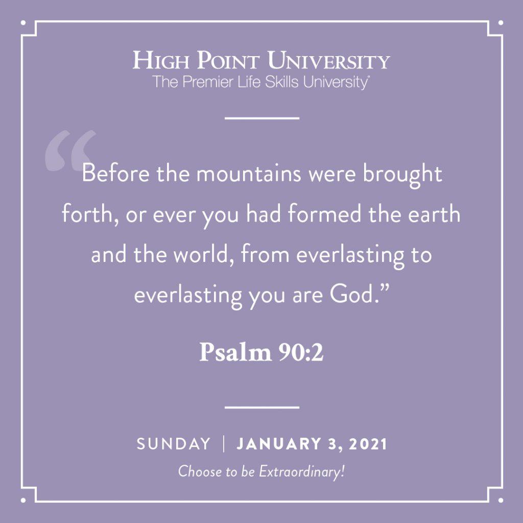 jan 3 2021 daily motivation psalm 90:2