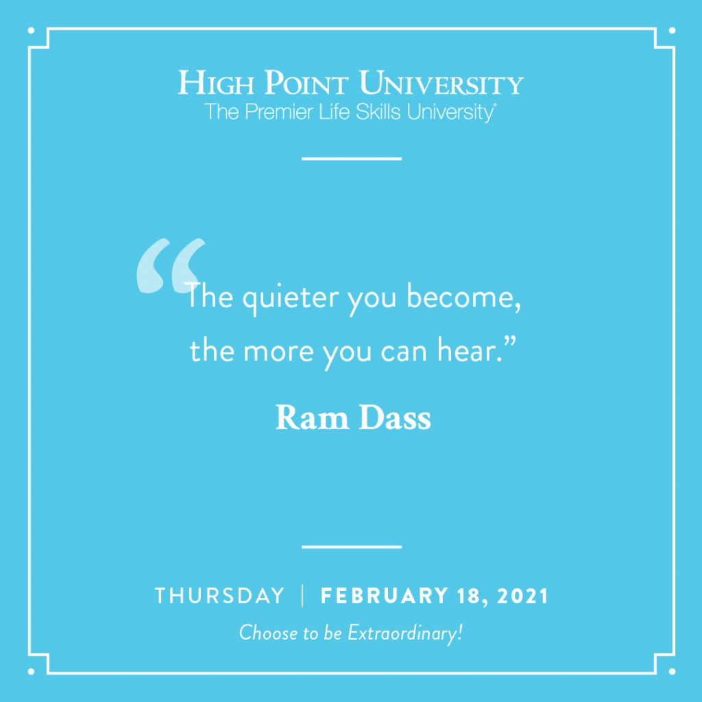 February 18 2021 daily motivation Ram Dass Quote