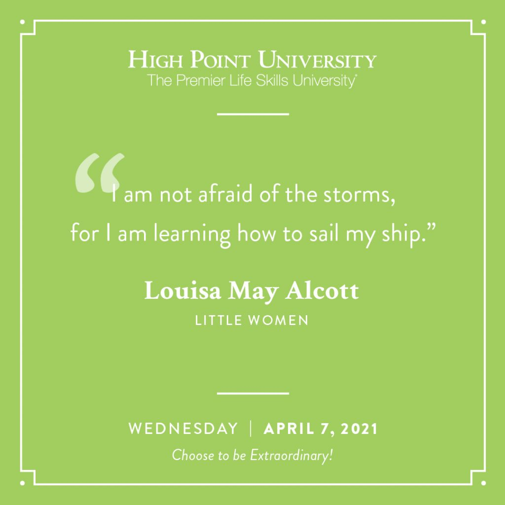 April 7 2021 Daily Motivation Louisa May Alcott Quote Little Women