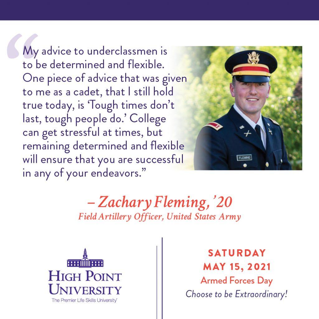 May 15 2021 Daily Motivation Zachary Fleming Alumni Quote