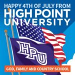 Happy 4th of July from High Point University