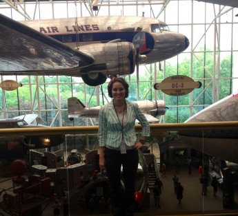 Strategic Communication Major Interns at the National Air and Space Museum in Washington, D.C.