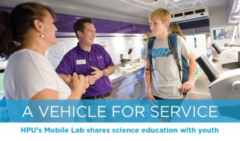 A Vehicle For Service: HPU's Mobile Lab shares science education with youth