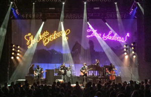 Boggs' lighting displays in action at an Avett Brothers concert over the summer