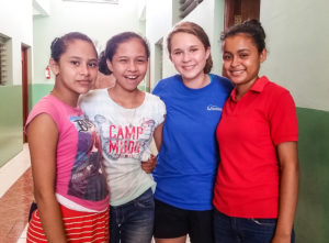 Gompf at her internship in Nicaragua