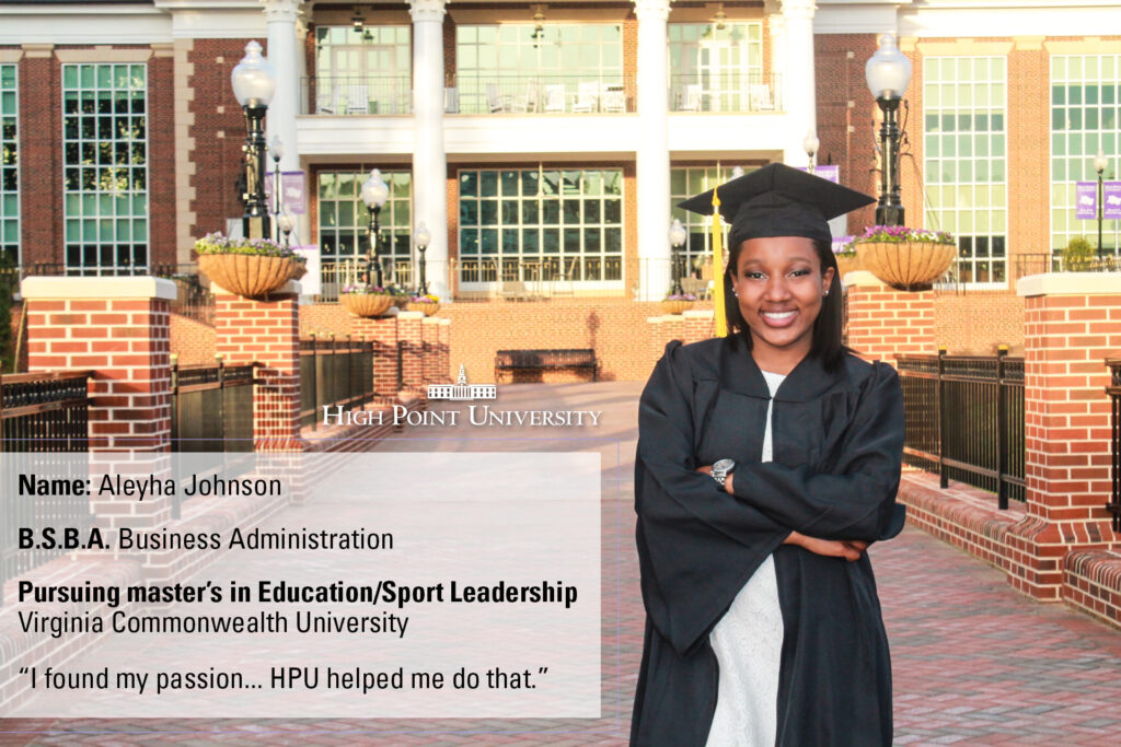 class of 2016 profile aleyha johnson pursues master s at vcu