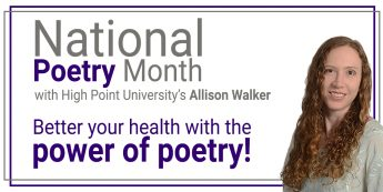 A #NationalPoetryMonth message from HPU's Allison S. Walker